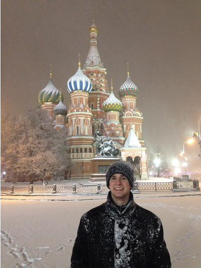 One of our Russian students in Red Square