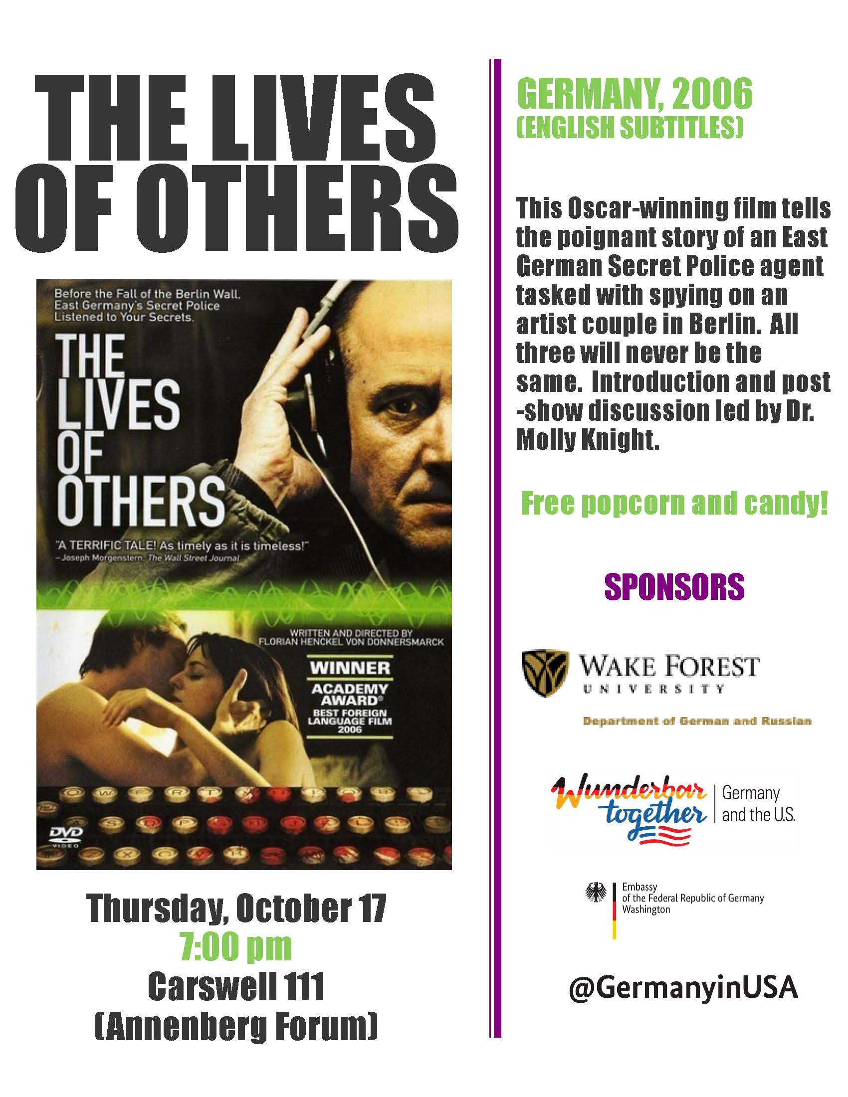 Film Screening - The Lives of Others